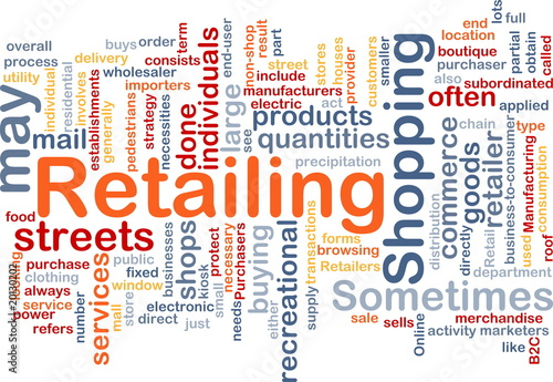 Retailing word cloud