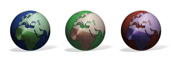 mondo, terra, globo