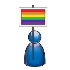 Pancarta bandera arcoiris