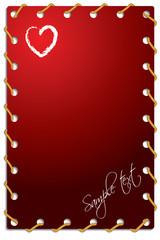 Roped Valentine card