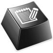 Notizblock mit Stift - Tastaturtaste