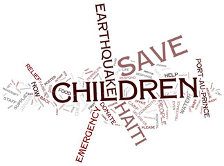 Relief in Haiti - Earthquake Children in Haiti