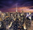canvas print picture New york skysrcrapers - bussines buildings background