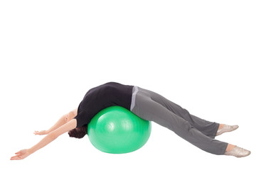 Woman doing Abdominal Stretch Exercise