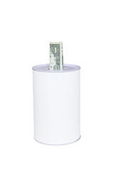 Money-box with a cash