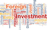 Foreign investment background concept poster