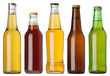 canvas print picture - Blank beer bottles