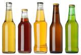 Blank beer bottles