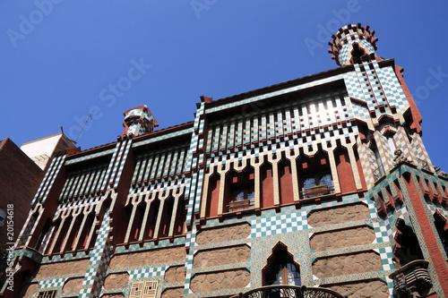 Leinwanddruck Bild Barcelona - Casa Vicens