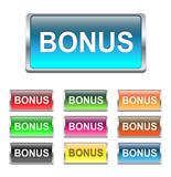 Bonus buttons, icons set, vector poster