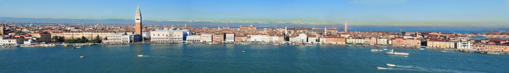 panoramic view of Venice from San Giorgio tower