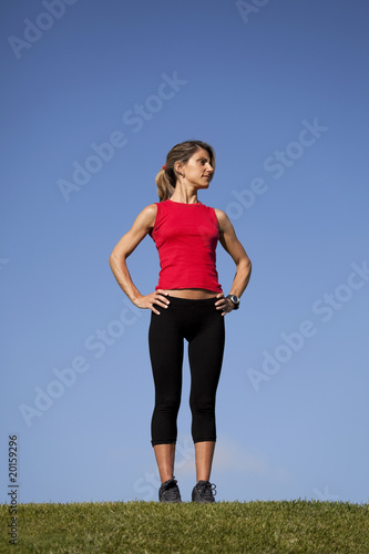 Sport woman at the field