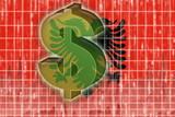 Flag of Albania,  finance economy poster