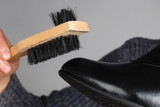 a shoe brush