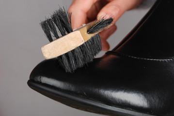 a shoe brush
