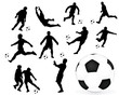 soccer and ball vector