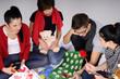 teens creating gifts