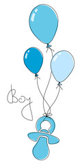 3 Luftballons & Schnuller Boy