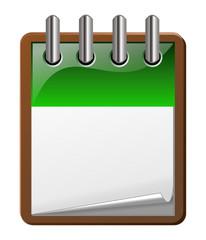 icone agenda vert