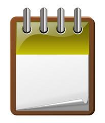 icone agenda jaune