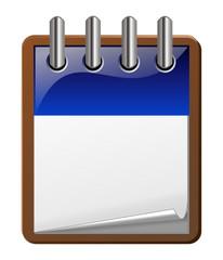 icone agenda bleu