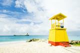 cabin on the beach, Enterprise Beach, Barbados, Caribbean poster