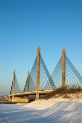 Bridge in Zaltbommel in winter day