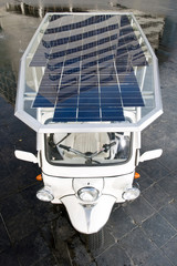 Solar powered tuc tuc