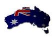Australien Karte 3D Flagge