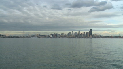 Seattle skyline in the morning