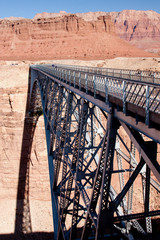 Navajo Bridge over the Colorado River and the Grand Canyon