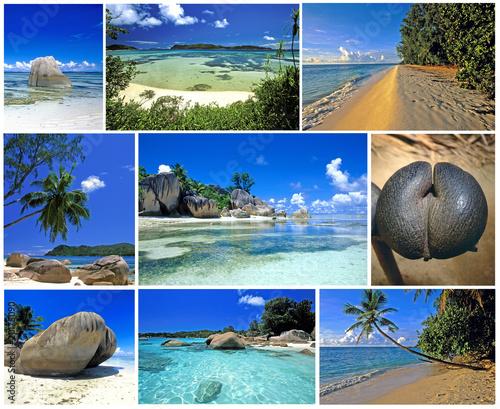 Leinwanddruck Bild les seychelles