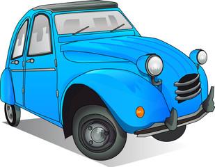 voiture bleue