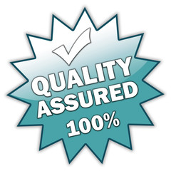"Glossy Sticker ""Quality Assured 100%"""