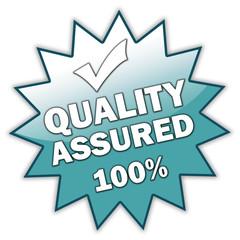 "Glossy Sticker ""Quality Assured 100%"""