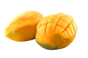 raw two mango served