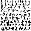 winter sports silhouettes - vector - 20183688