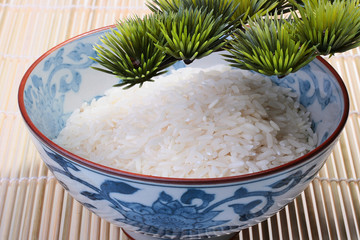 Rice in deep teabowl