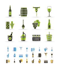 Wine Icons - Vector Icon Set
