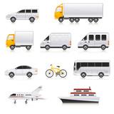 Fototapety Transport icons