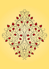 elegant floral ornament (vector)