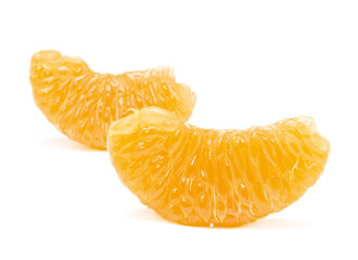 Orange segment isolated on the white background