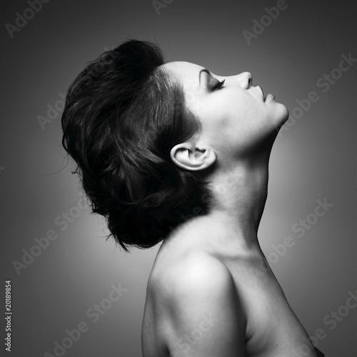 Foto Spatwand Akt Portrait of beautiful sensual woman