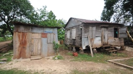 two  houses  jungle corn island nicaragua central america
