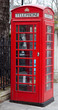 A typical London red phone booth