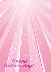 Vector background with strips and stars for Mother`s day
