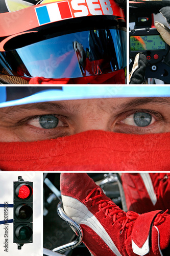 Poster Pilote de course automobile