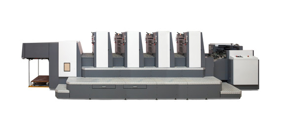 Isolated four-section  offset printed machine