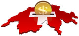 deposit dollars in Switzerland poster