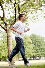 Fit man jogging